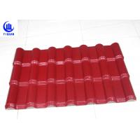 Best Embossed Surface Red Synthetic Resin Roof Tile 219 mm Pitch Size wholesale