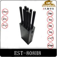 Best 8 Antenna Handheld Metal Shell GPS Signal Jammer Block 2G / 3G / 4G / Wifi with Battery inside wholesale
