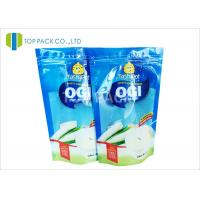 Best Blue Clear Front 500g Stand Up Food Pouches , Powder Plastic Bag Packaging Food Grade wholesale