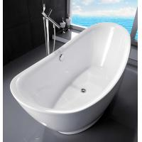 Cheap Curved Half Egg Shaped Freestanding Bath Tubs , 1700X800 Bathroom Freestanding Tubs for sale