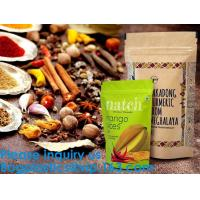 Best SIDE GUSSET COFFEE BAGS,STAND UP COFFEE BAGS,KRAFT PAPER COFFEE BAGS Foil Zip Lock Stand Up Food Pouches Bags with Notch wholesale