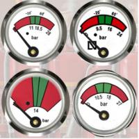 Best JQ0803 Fire Extinguisher Gauge 23mm Diameter Sturdy / Durable With Bottom Mounting wholesale