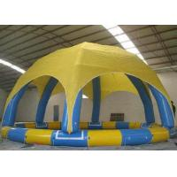 Best Round Roof Large Inflatable Pool Large Diameter With Electric Air Pump Accessories wholesale