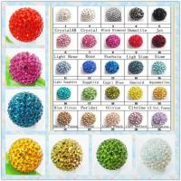 Best Jewelry Accessories Shamballa Crystal Pave Ball Beads 10mm For Bracelets / Necklace wholesale