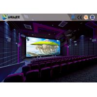 Best Flat / Arc Screen Movie Theater Seats Sound Vibration Cinema Theater With Special Effect wholesale