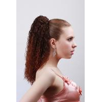 Best Dark Brown Curly Synthetic Pony Tail Wigs And Extensions For Women wholesale