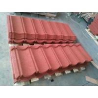 China Roman Stone Coated Roof Tiles Galvalume Steel Roofing 1300x420mm on sale