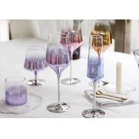 Best Colored Goblet Whiskey Glass Cups , Transparent Wine Glass For Party wholesale