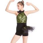 Best Biketard Jazz Costume Dance Wear Sequins Gymnastics Performance Dance Competition Clothes wholesale