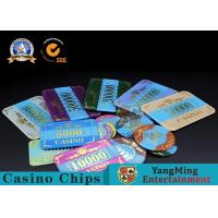 Best Marble Acrylic Crystal European Casino Poker Chips / Wear Resistance Casino Jetons wholesale