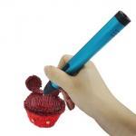 Best Speed Adjustable 3D Drawing Pen , Kid Dewang 3D Pen X4 Fancy Design Gold And Blue wholesale