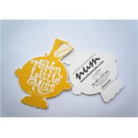 Best Yellow Clothing Label Tags Recycled Paper Hang Tag For Necklaces wholesale