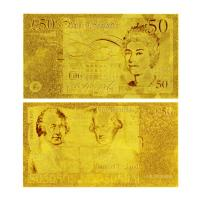 Buy cheap Engrave gold foil banknote from wholesalers