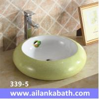 Best 2016 new model fashion colorful sanitary ware ceramic art basin for bathroom sink wholesale