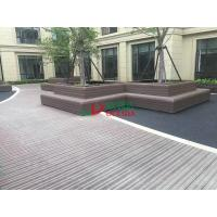 Best Wood Plastic Clow Maintenance Decking With Groove Surface , Waterproof Plastic Timber Decking wholesale