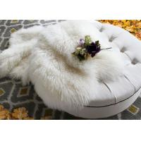 Best Mongolian Long Real Sheepskin Rug Comfortable For Home Textil / Making Garment wholesale
