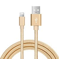 China Metallic Nylon Braided USB Cable, USB A to Lightning Cable / Micro USB Cable / Type C Cable, Fast Charging and Data Sync on sale