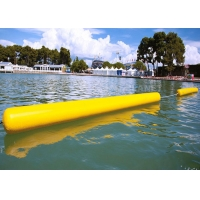 Best Customize Floating 0.9mm PVC Yellow Inflatable Long Cylinder Buoy Tube For Water Park wholesale