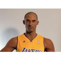 Cheap Kobe Bryant Wax Figure / Realistic Wax Sculptures For Museum Display , Memorial Hall wholesale