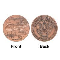 Best Army OV - 1 MOHAWK Plane Token Commemorative Coins , Military Souvenir Collectible Coins wholesale
