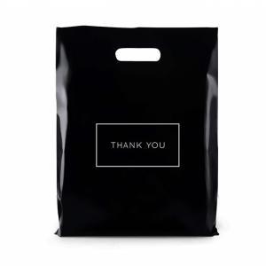 Best Die Cut LDPE 2.35mils Handles Shopping Bags SQP For Merchandise Gifts wholesale