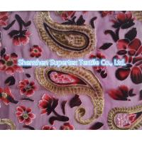 Best Upper Market Polyester Velvet Stretch Silk Fabric Silk Burn Out Flowers Leopard wholesale