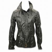 Best Women's PU Jacket, Fashionable Style, Available in Black wholesale