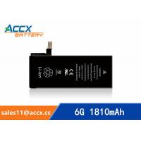 Best ACCX brand new high quality li-polymer internal mobile phone battery for IPhone 6G with high capacity of 1810mAh 3.8V wholesale