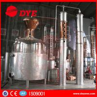 Best 5000 L Red Copper Grain Alcohol Distiller Dye Wine Distillery CE Approved wholesale
