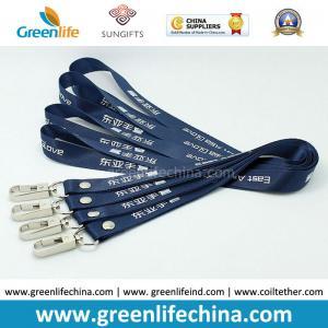Best Stanard Working Dark Blue Custom Printing Polyester Neck Lanyard w/Delux Swivel Hook wholesale