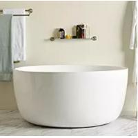 Cheap High End Small White Round Freestanding Bathtub With Overflow for sale