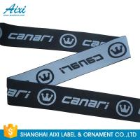 Best Custom Logo Soft Underwear Jacquard Elastic Waistband Spandex Webbing Tape wholesale