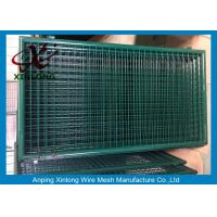 Best Dark Green PVC Coated Welded Fence Gate With Round Post For Gym XLF-16 wholesale