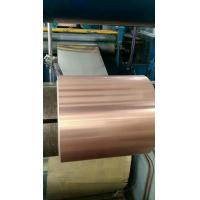 Best Red Copper Coated Aluminum Coil , Composite Roll Customized Size High Stability wholesale
