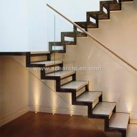 Best Modern Design Zig Zag Staircase Beam Double Stringer Straight Staircase wholesale
