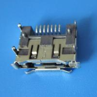 Best 7Pin 90 angle dip smt  type female connector right angle SATA Connector,Double row inserts wholesale