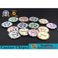 Best ABS Casino RFID chips 12g Clay Poker Chips With Ultimate Sticker , 40mm Diameter wholesale