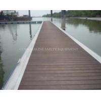 Floating dock with aluminum frame decking Foam-Filled Floating pontoons Hdpe
