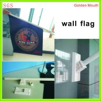 Cheap Durable Double Sides Shop Front Flags With Bracket / Pvc Pole Full Color for sale