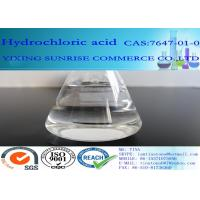 Best HCL Hydrochloric Acid Chemical Additives In Food CAS 7647-01-0 Colorless Transparent Liquid wholesale