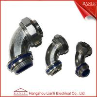 Cheap Liquid Tight Flexible Metal Conduit Fittings 90 Degree Connector With Insulated Throat for sale