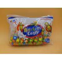 Best Fruit Flavors Brochette Sugar Free Peppermint Candy / Round Shape Compressed Candy wholesale