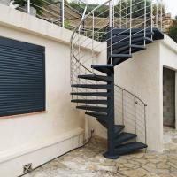 Best Durable Outdoor Galvanized Metal Spiral Staircase Prefabricated Stairs wholesale