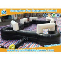 Best Black 0.55mm PVC Inflatable Football Pitch Billiards Table Snooker Ball Game For Soccer Bubble wholesale
