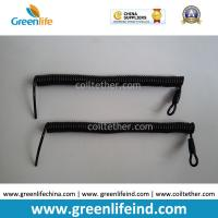 Buy cheap Custom Attachments Solid Black PU Covered Extendable Plastic Spiral Safety from wholesalers