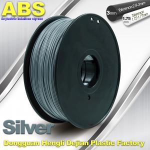 Best High strength ABS 3d Printer Filament 1.75mm Silver Filament Materials wholesale