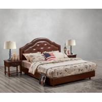 Best Leather / Fabric Upholstered Headboard Bed for Hotel Bedroom interior Furniture with Wooden nighstand in Cheap price wholesale