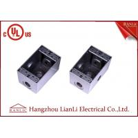 "Best 1/2"" 3/4"" Two Gang Electrical Box Waterproof Terminal Box Powder Coated , UL Listed wholesale"