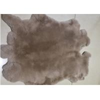 Cheap SGS Real Tanned Rex Rabbit Skin With 2-2.8cm Hair Length Winter Design for sale
