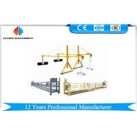 Best 2 * 2.5m Aluminum Electrical Rope Suspended Platform With Motor Power 1.5kw wholesale
